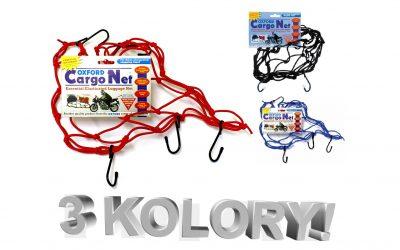 Praktyczna siatka bagażowa OXFORD CARGO NET dostępna w 3 kolorach