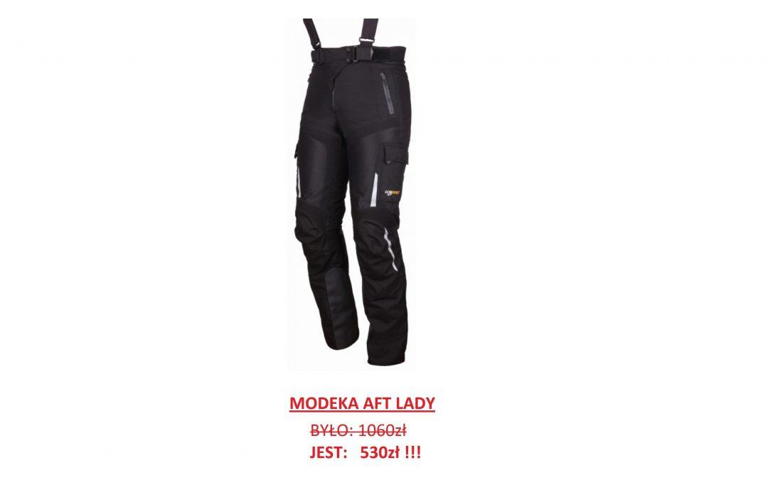Wielka wyprzedaż kurtek oraz spodni Modeka! Akcja dotyczy modeli 2017 oraz starszych. Ceny w dół do -50%! Tylko w naszym sklepie stacjonarnym. Aktualna dostępność pod numerem telefonu 722 226 228