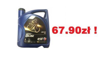 ELF MOTO 4 CRUISE 4T 20W50 4L w super cenie 67,90zł !!! Idealny olej do mniej wysilonych maszyn lub do płukanki silnika.