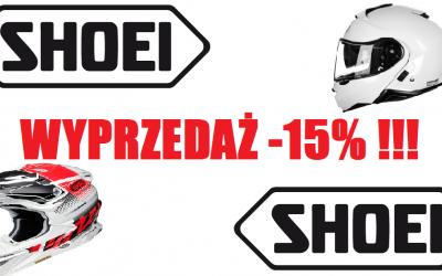WYPRZEDAŻ KASKÓW SHOEI -15% !!! Wszystkie kolekcje i modele ! Zapraszamy do zakupu :)