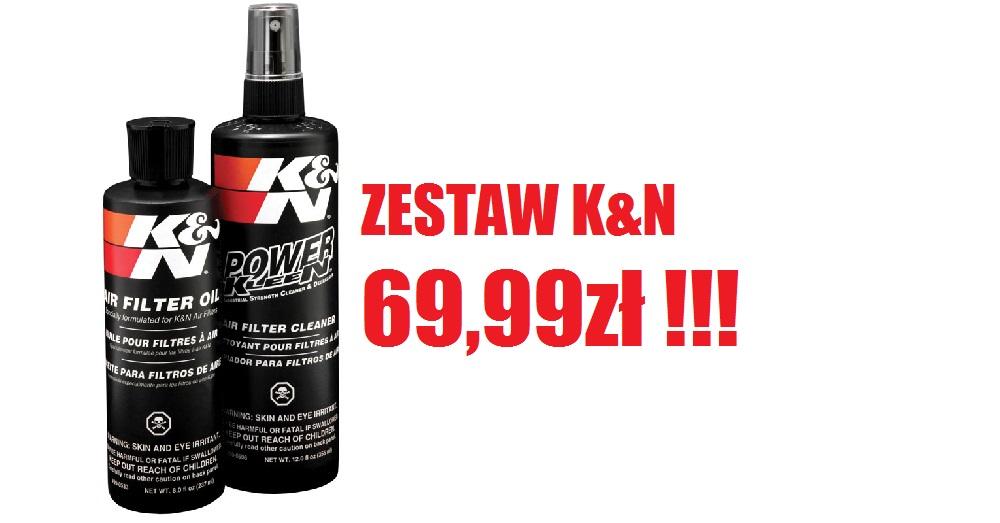 Zestaw środków do pielęgnacji sportowych filtrów powietrza K&N dostępny w naszym sklepie w super cenie 69,99zł !