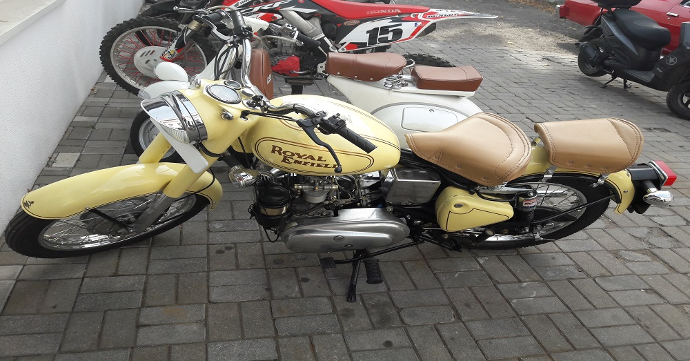 Na nasz warsztatowy stół trafił rzadki okaz: motocykl Royal Enfield z silnikiem…DIESLA ;)