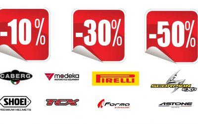 Zimowa obniżka cen odzieży motocyklowej! Obniżki do -50% !!! Przyjdź po nowy kask, buty czy kurtkę w najlepszej cenie !