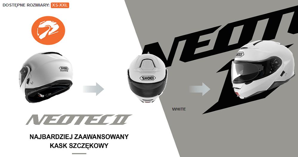 SHOEI NEOTEC II – mega wygłuszony kask szczękowy dostępny w stałej ofercie sklepu MOTODREAM!