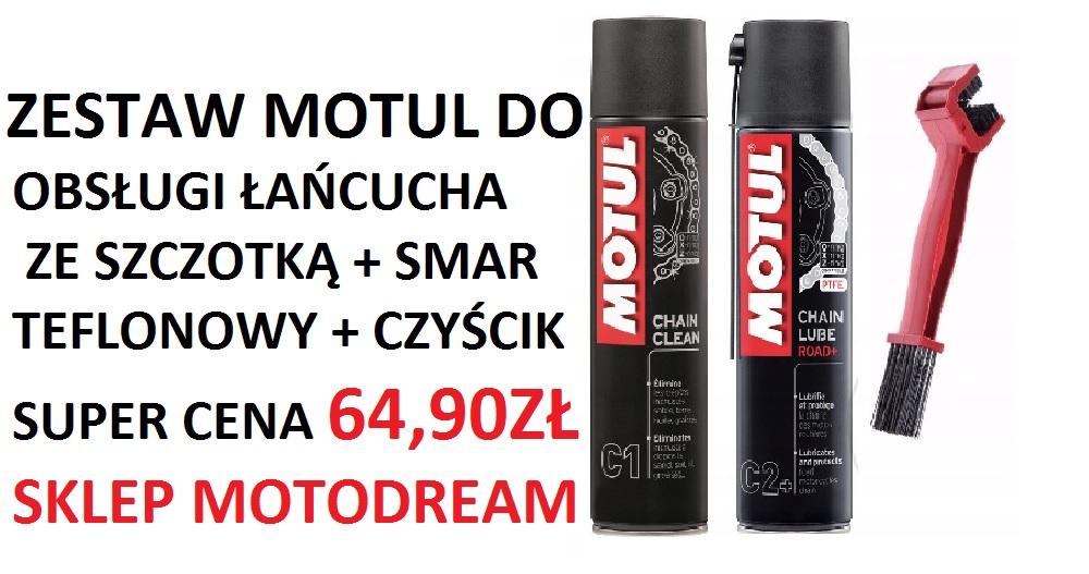 Zestaw MOTUL-a do obsługi łańcucha w super cenie 64,90zł !!! Tylko w sklepie Motodream !